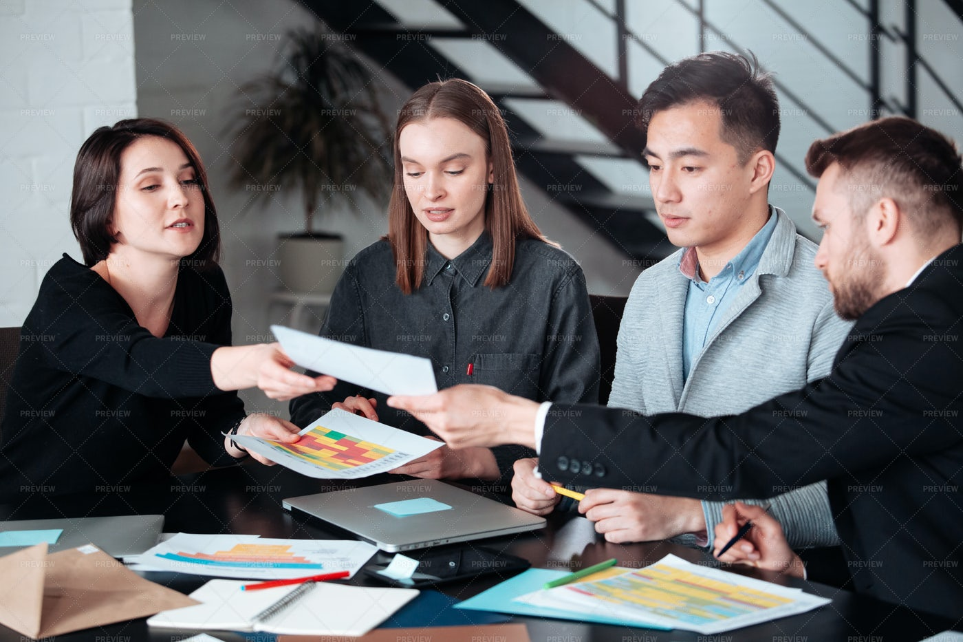 Young Businesspeople In Meeting: Stock Photos