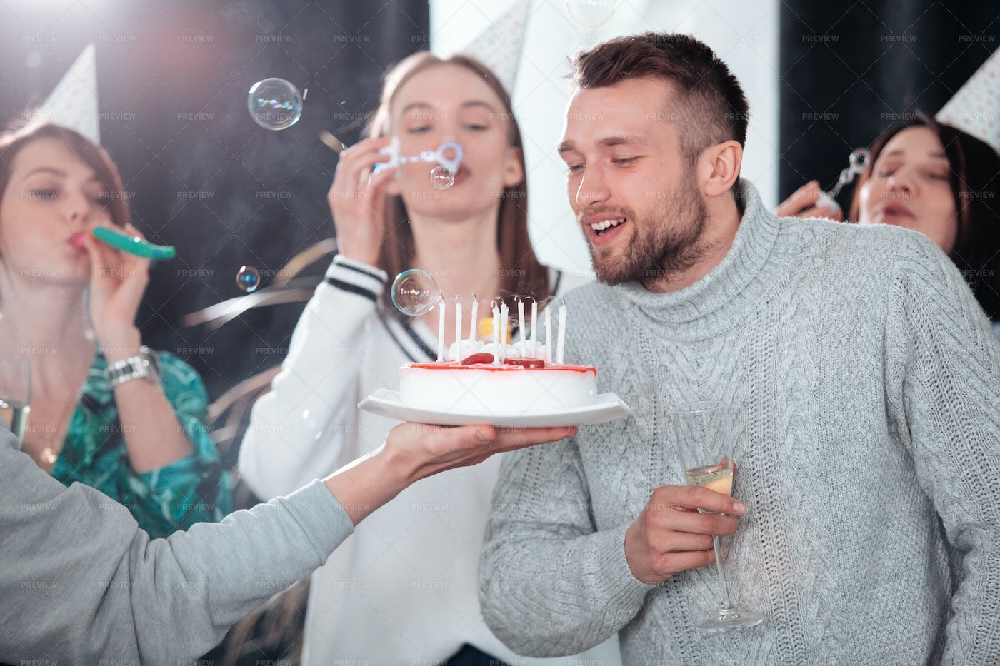 Blowing Candles: Stock Photos