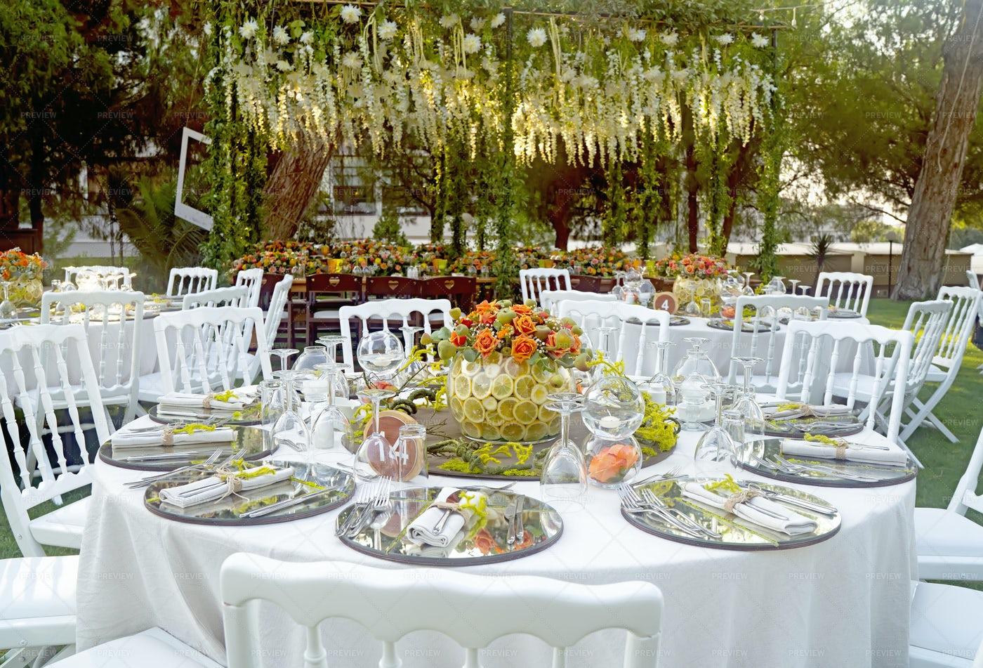 Wedding Reception Table: Stock Photos