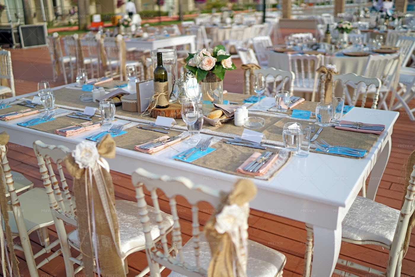 Decorated Wedding Tables: Stock Photos
