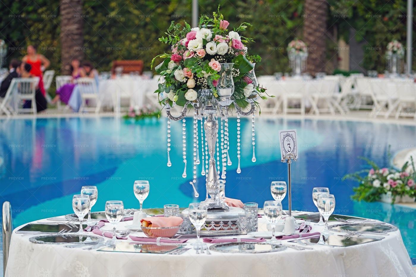 Luxury Wedding Table: Stock Photos