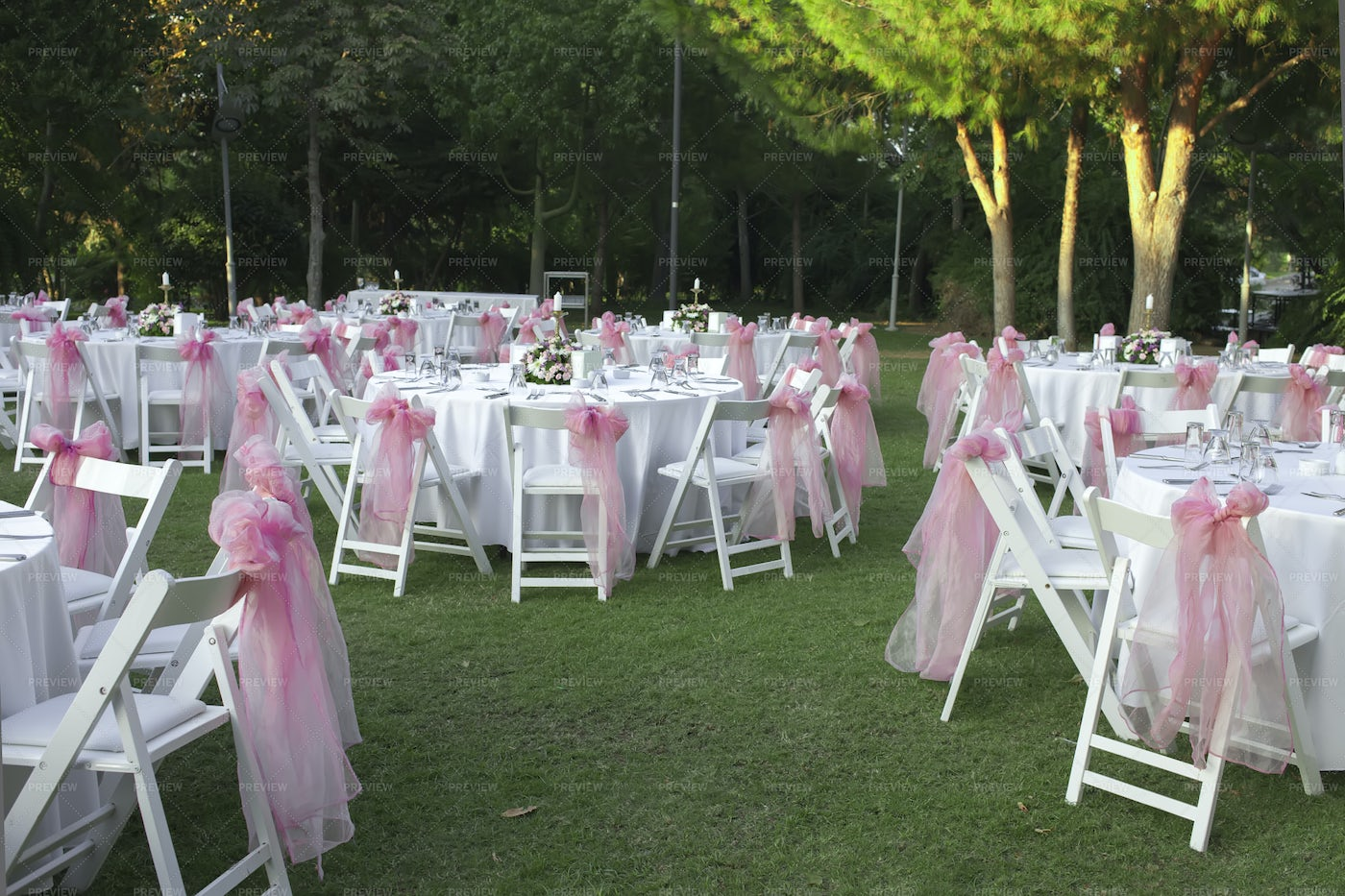 Garden Wedding Reception Furniture: Stock Photos