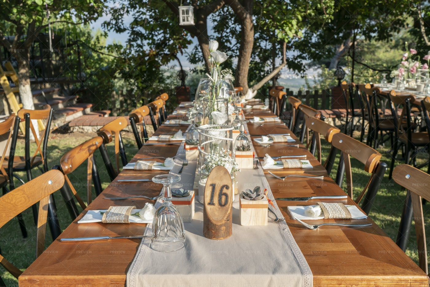 Long Wedding Table: Stock Photos