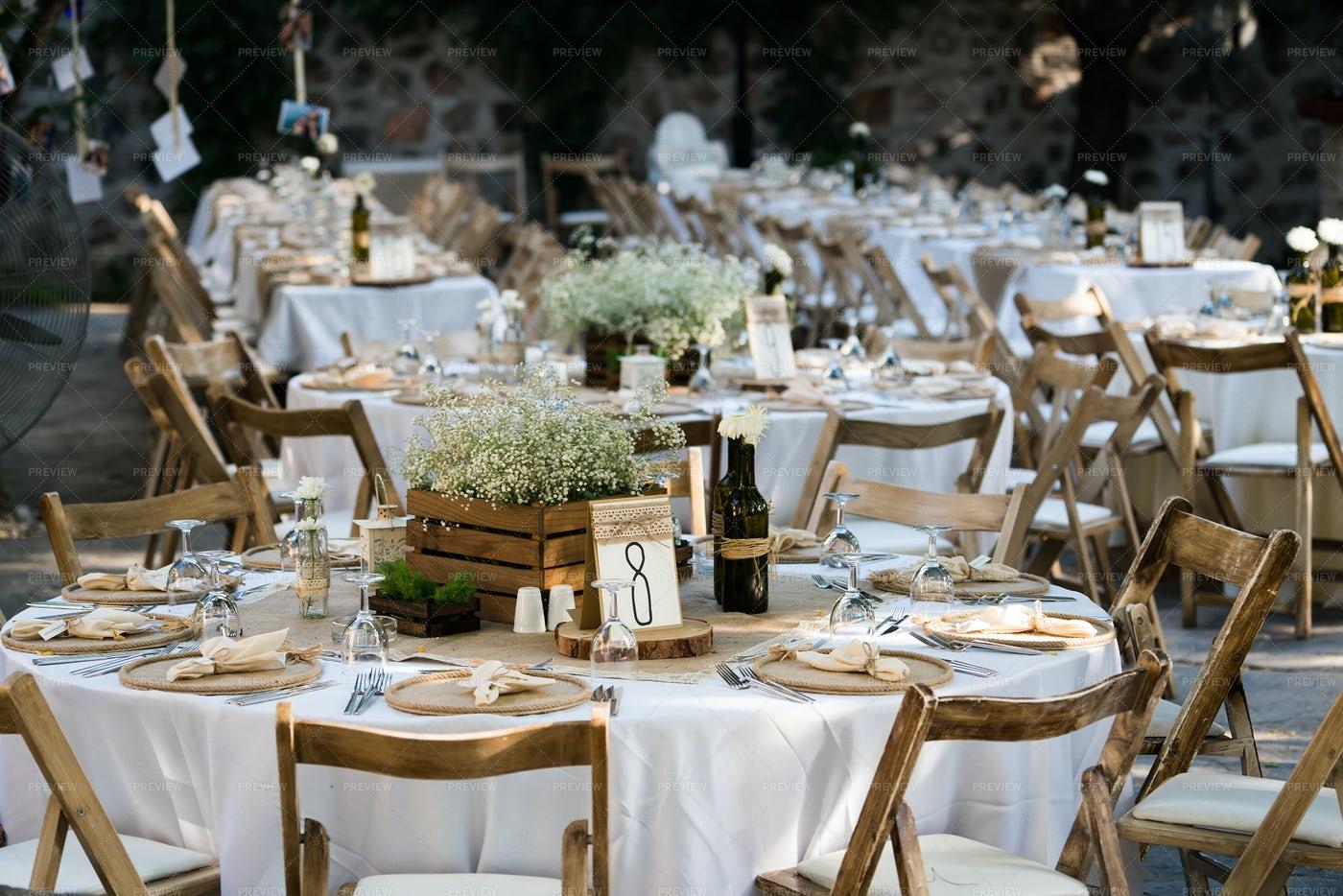 Many Wedding Tables: Stock Photos