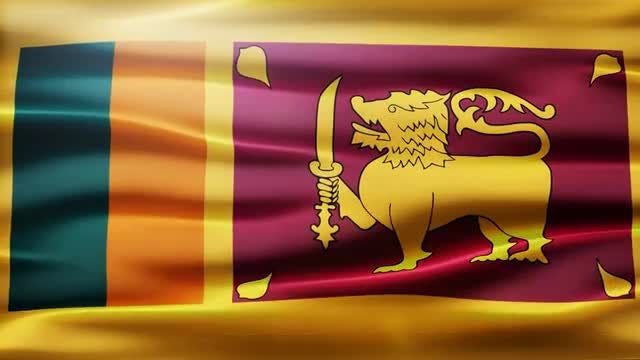 Sri Lanka Flag: Stock Motion Graphics