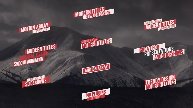 55 Titles Pack: After Effects Templates