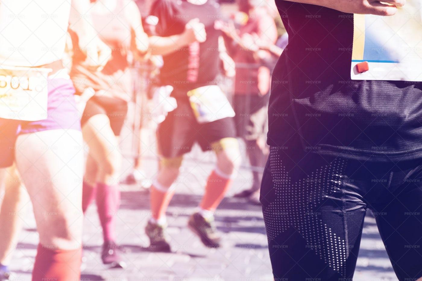 Marathon Running: Stock Photos