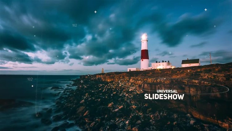 Futuristic Parallax Slideshow: After Effects Templates