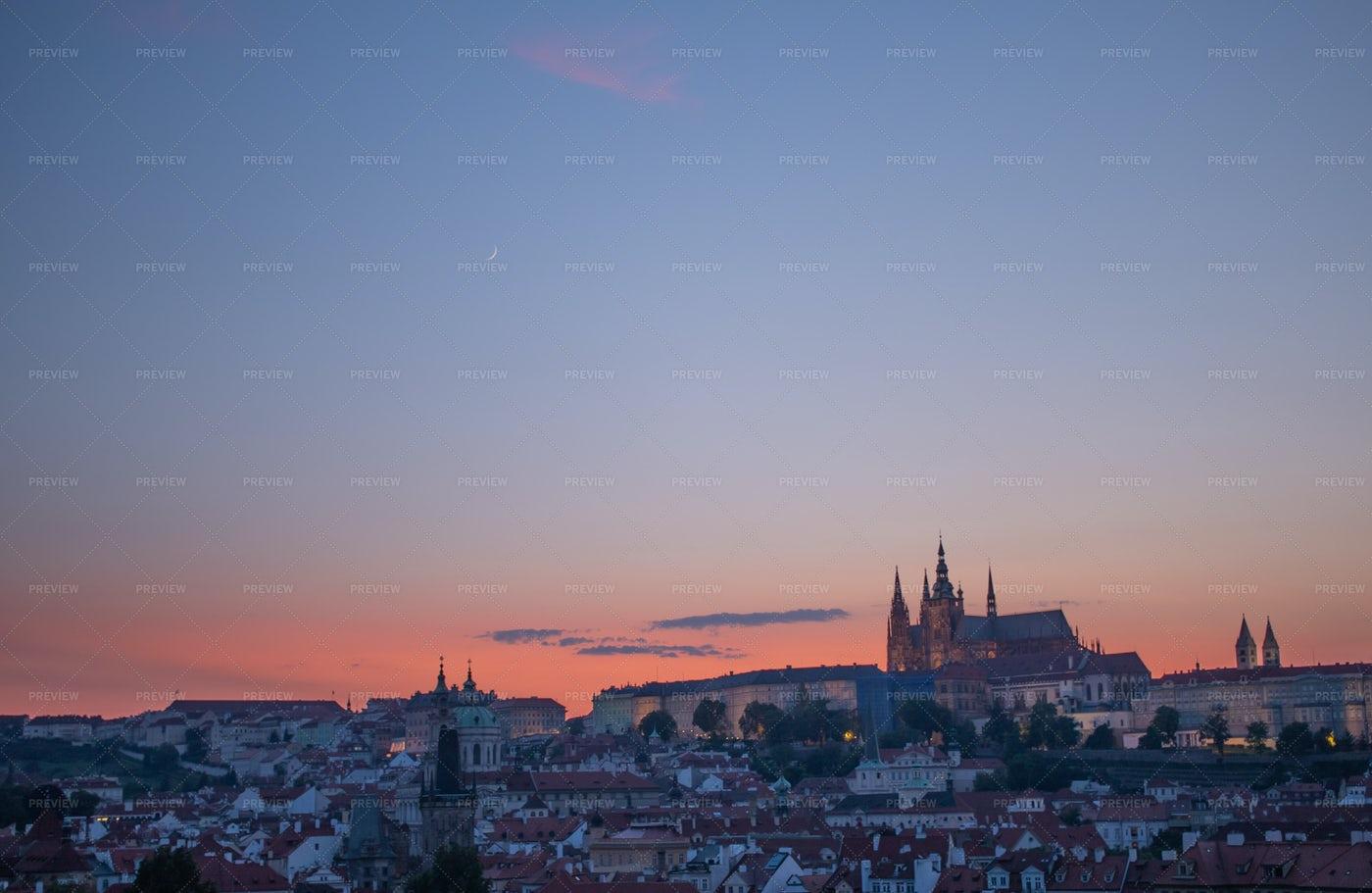 Prague Castle Sunset: Stock Photos