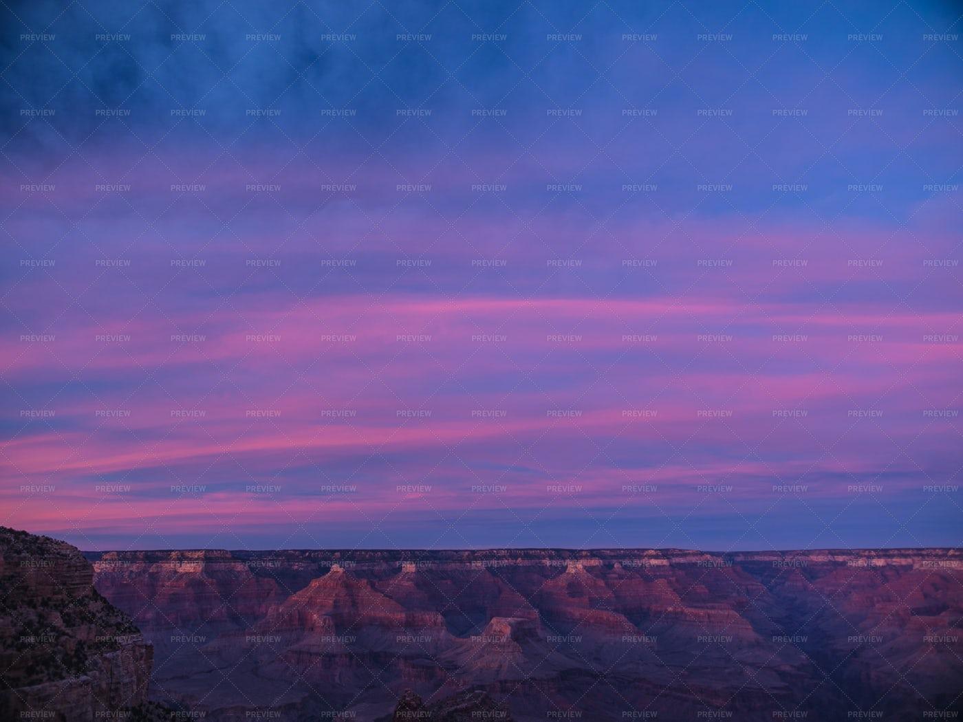 Grand Canyon Sunset: Stock Photos