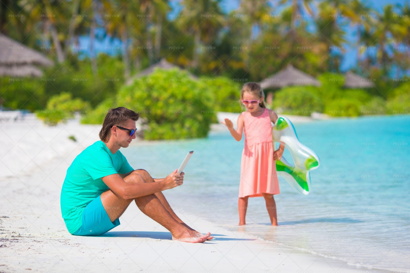 Working On Vacations: Stock Photos