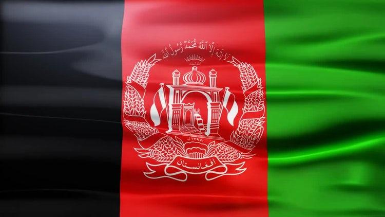 Afganistan Flag: Stock Motion Graphics
