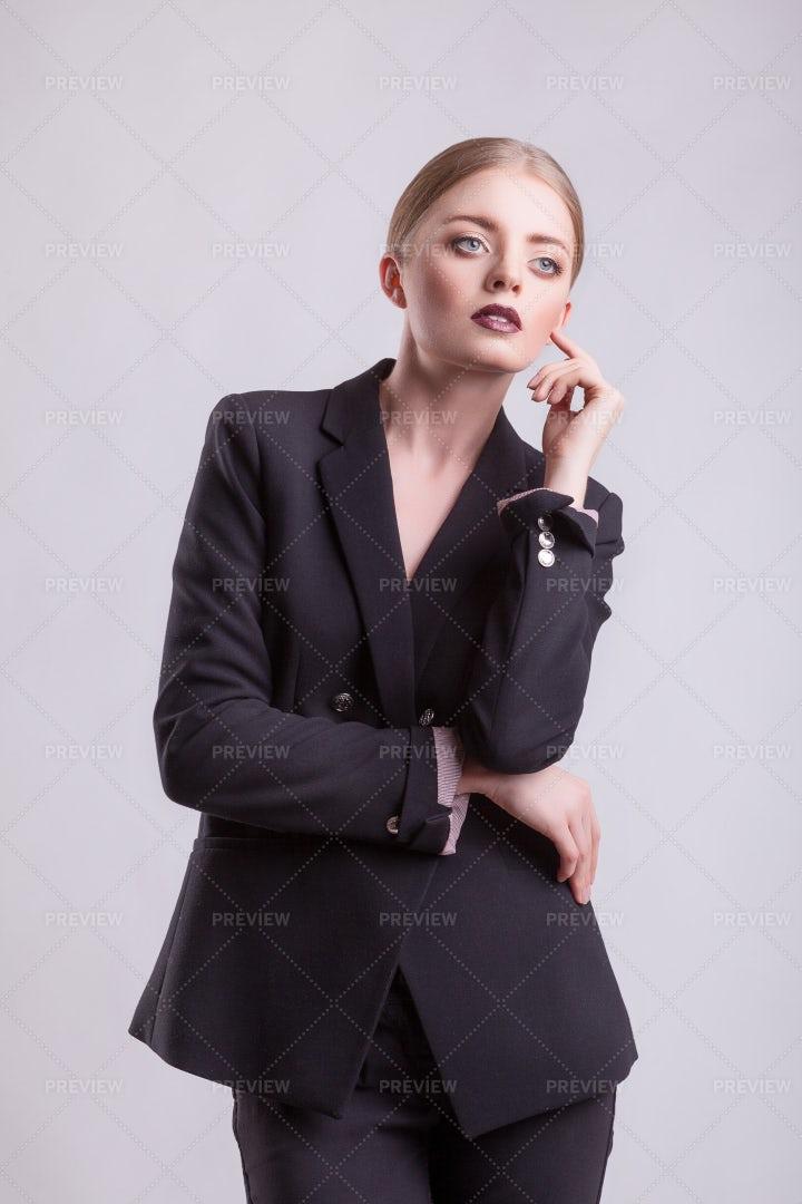 Woman In A Studio Setting: Stock Photos