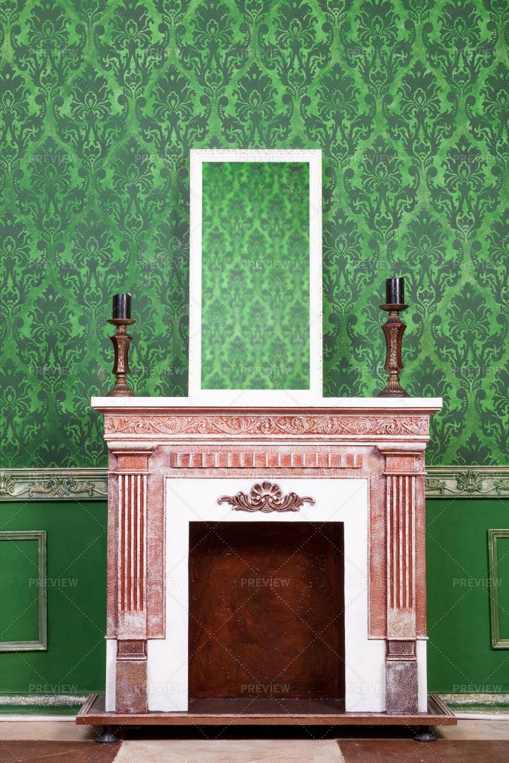 Green Vintage Interior: Stock Photos