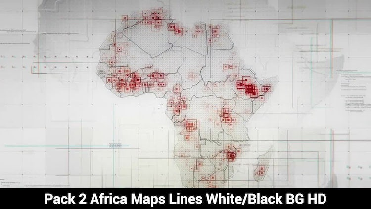 Africa Maps : Stock Motion Graphics