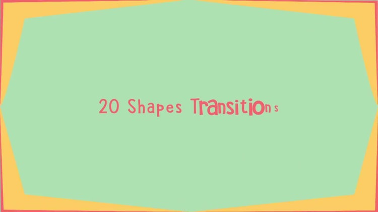 20 Color Shapes Transitions: After Effects Templates