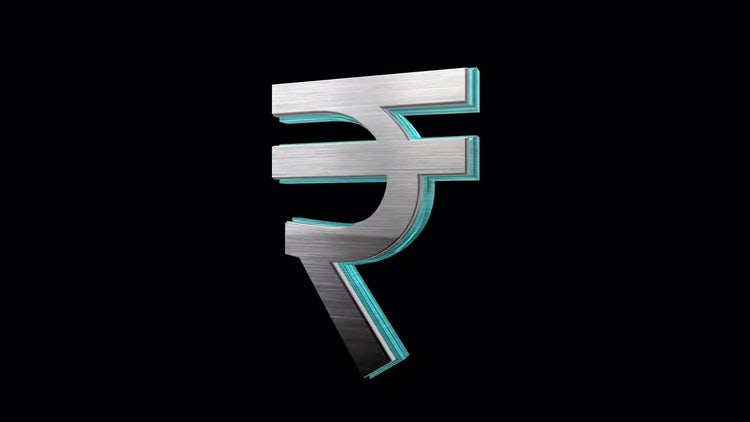 Rotating Rupee: Stock Motion Graphics