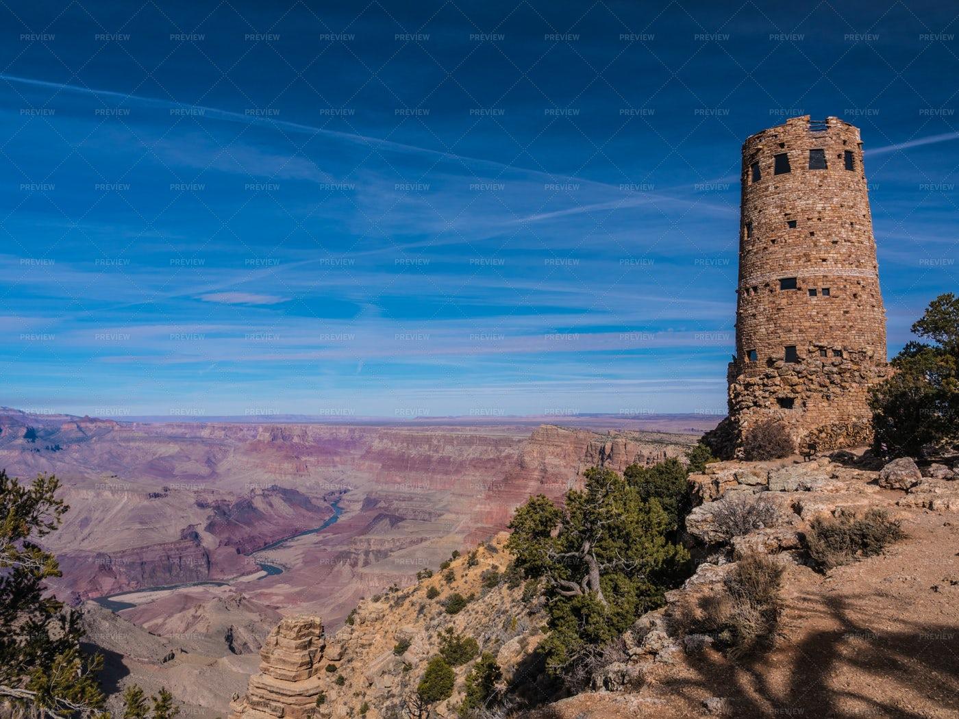 Desert View Watchtower: Stock Photos