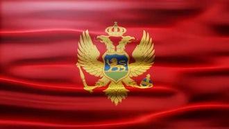 Montenegro Flag: Motion Graphics