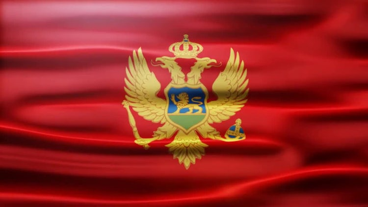 Montenegro Flag: Stock Motion Graphics