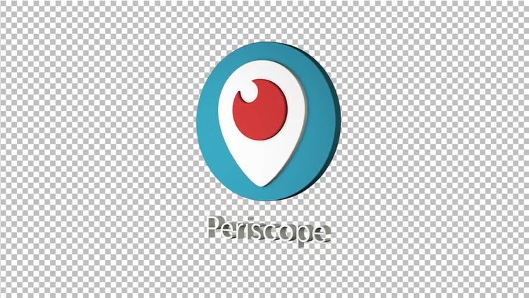 Periscope Spinning Logo: Stock Motion Graphics