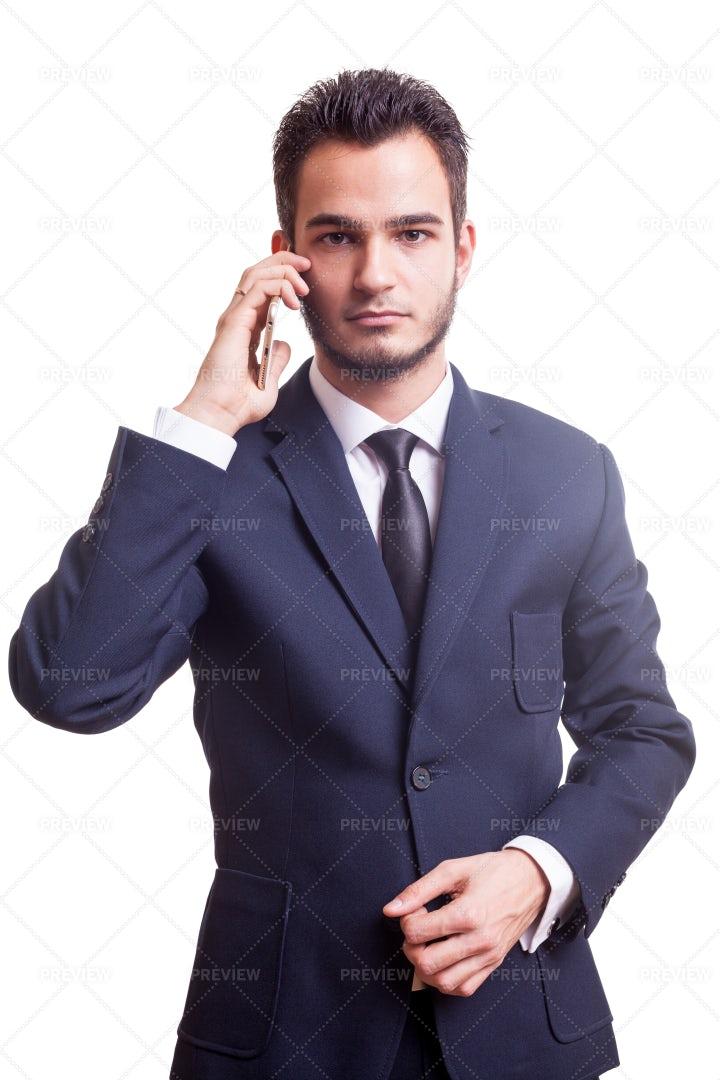 Businessman With A Phone: Stock Photos
