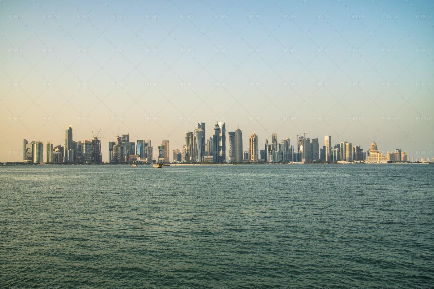 Doha Skyline: Stock Photos