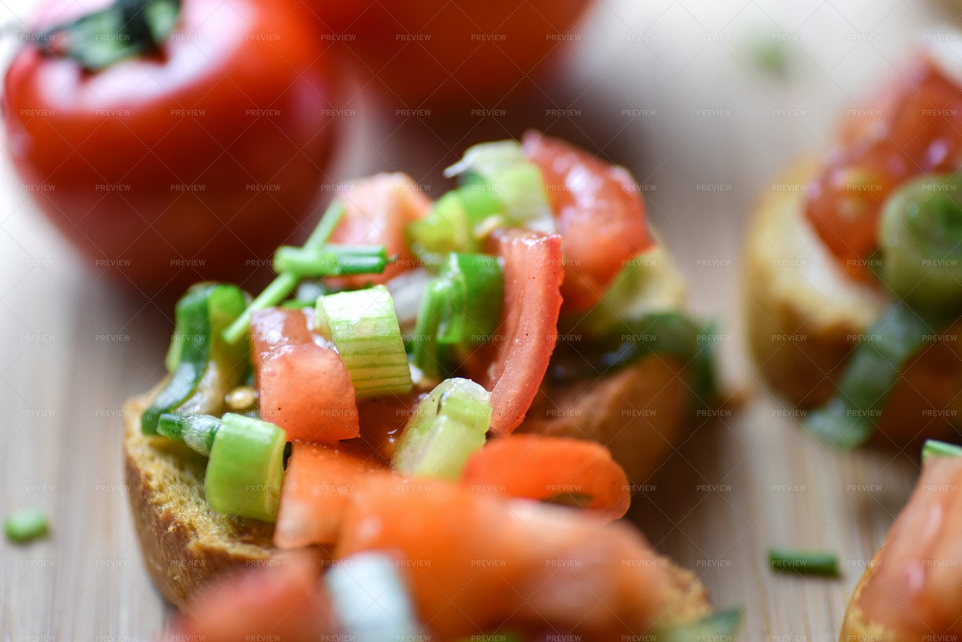 Italian Traditional Meal Bruschetta: Stock Photos