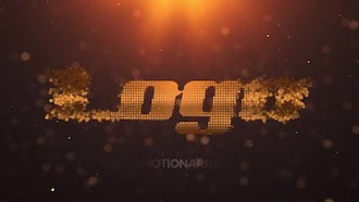 Elegant Particle Logo: After Effects Templates