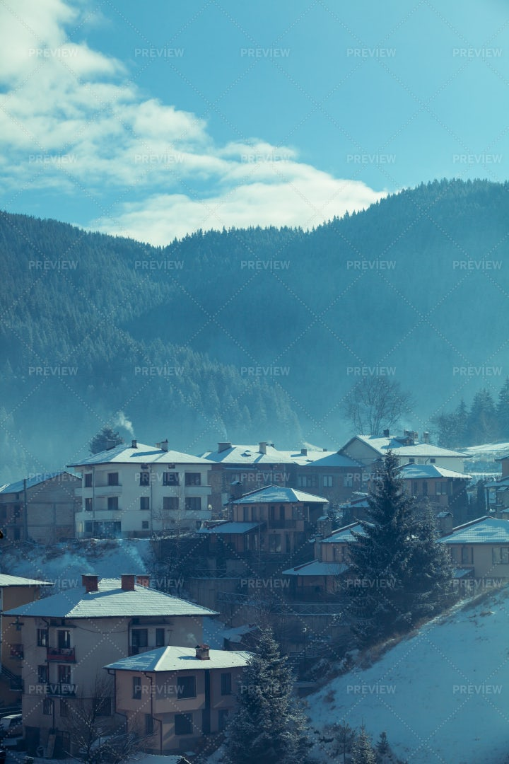 Mountain Village Landscape: Stock Photos