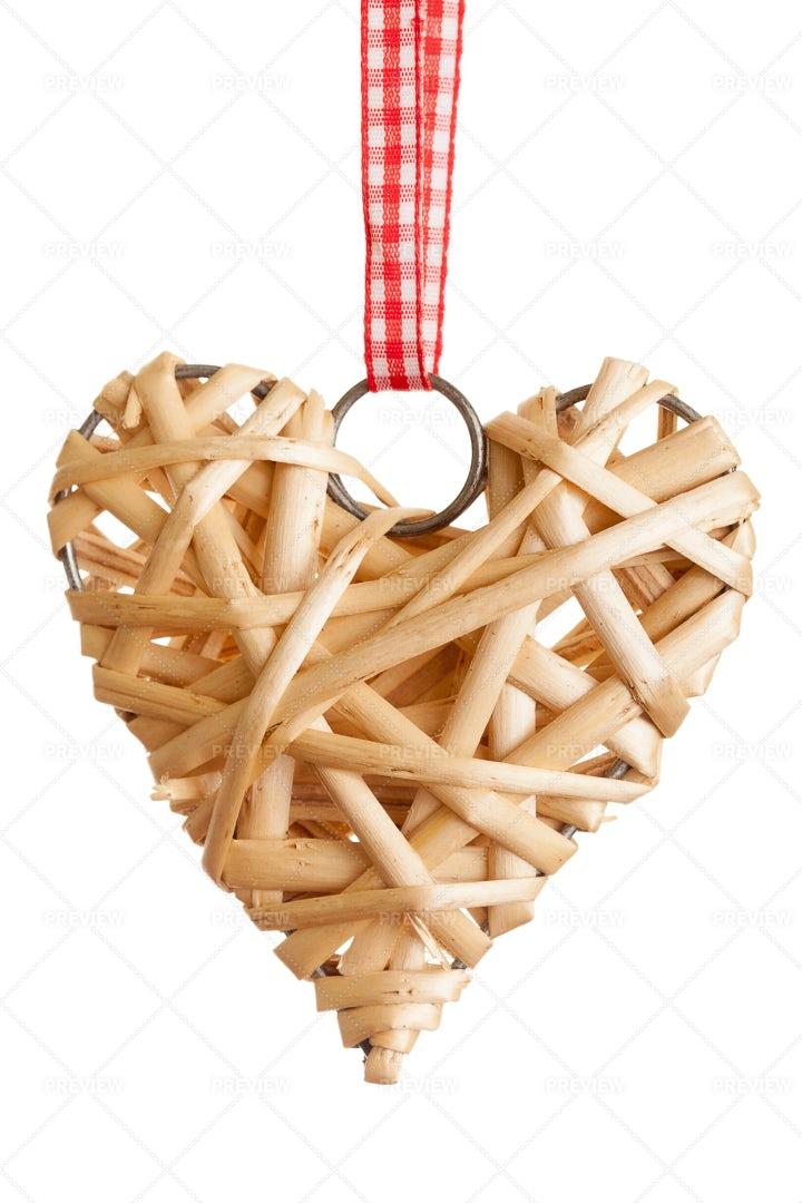 Rustic Christmas Heart: Stock Photos