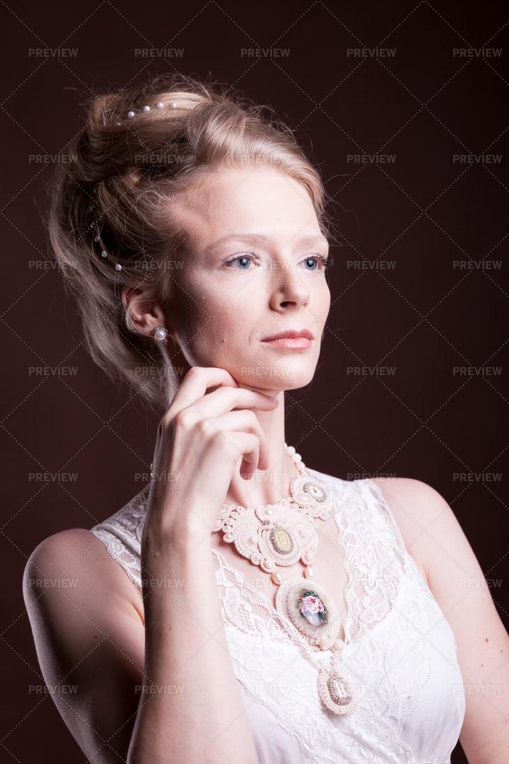 Historical Blonde Portrait: Stock Photos