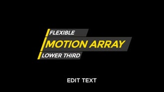 Flexi Lower Third: Motion Graphics Templates