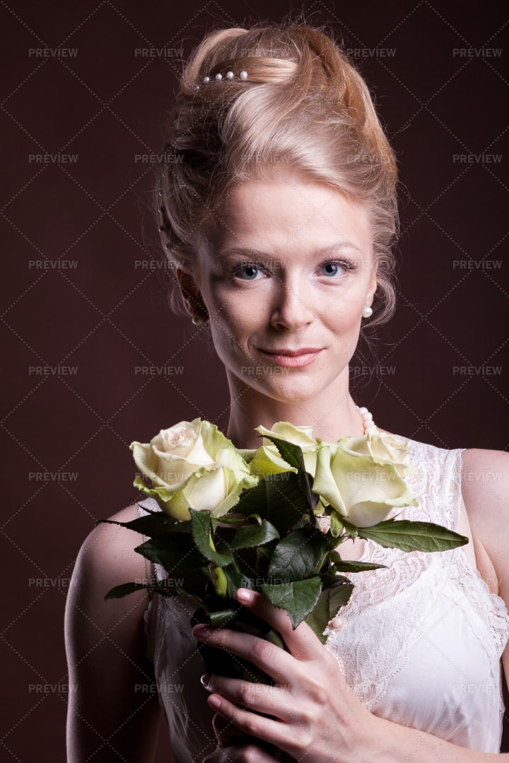 Roses For Romantic Woman: Stock Photos