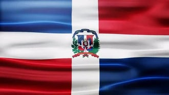Dominican Republic Flag: Motion Graphics