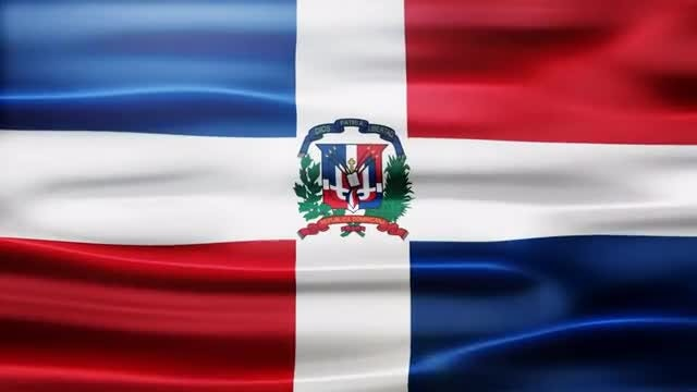 Dominican Republic Flag: Stock Motion Graphics