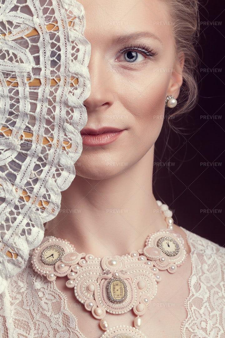 Rococo Style Portrait: Stock Photos
