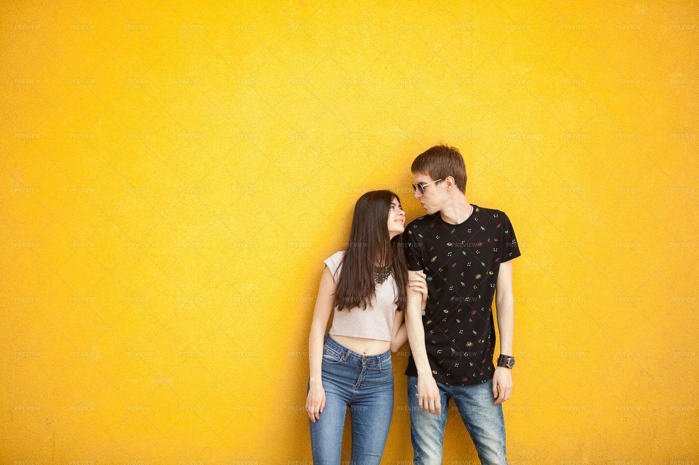 Fashion Couple Posing: Stock Photos