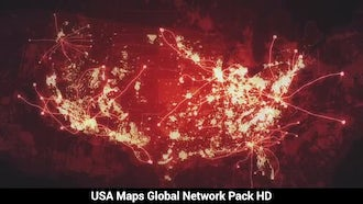 USA Maps At Night: Motion Graphics