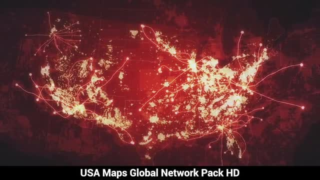 USA Maps At Night: Stock Motion Graphics