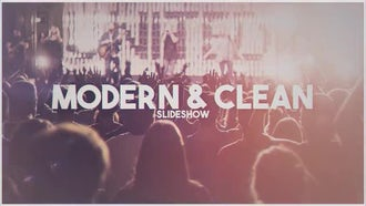 Modern & Clean Slideshow: After Effects Templates