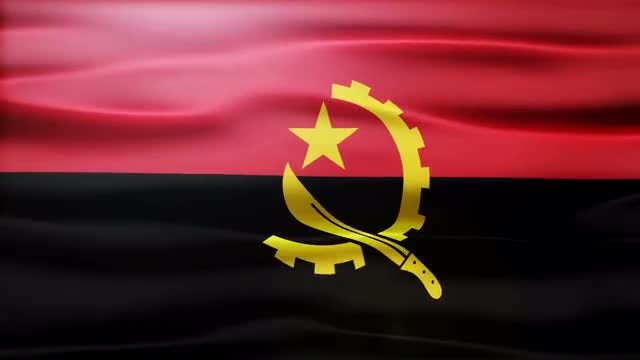 Angola Flag: Stock Motion Graphics