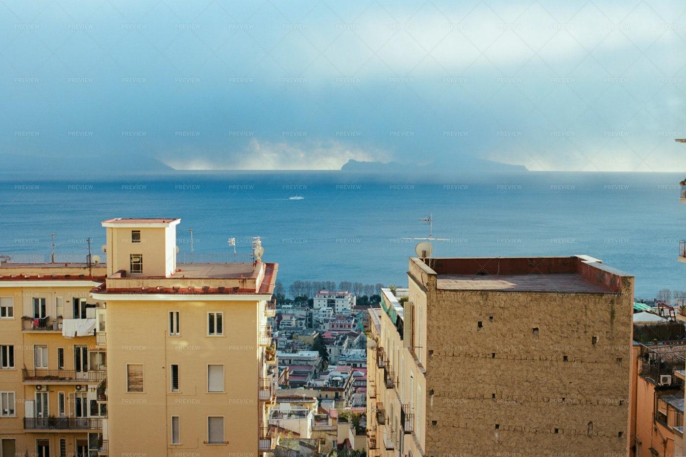 Ocean Views In Naples, Italy: Stock Photos