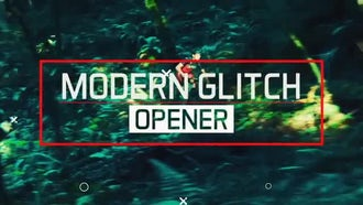 Epic Modern Glitch Opener: After Effects Templates