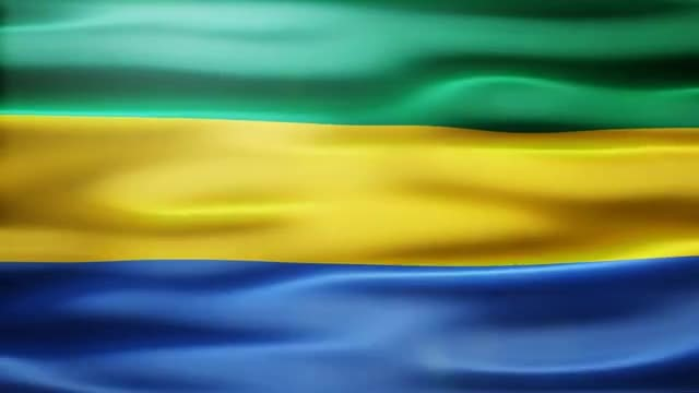 Gabon Flag: Stock Motion Graphics