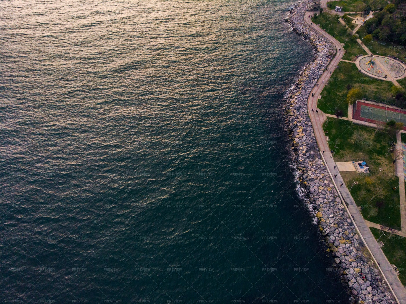 Shore And Ocean Aerial View: Stock Photos