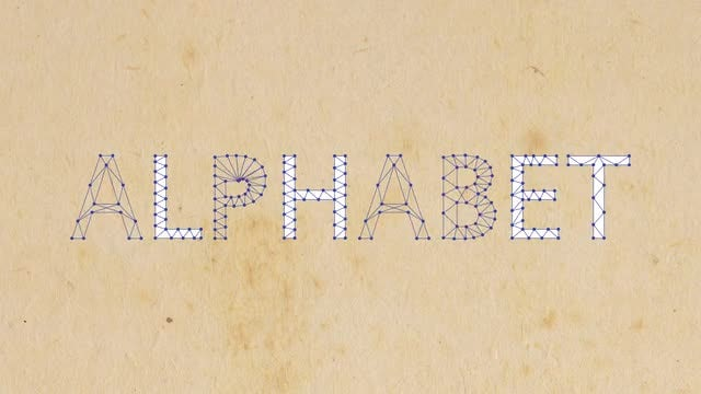 Beams & Points Alphabet: After Effects Templates