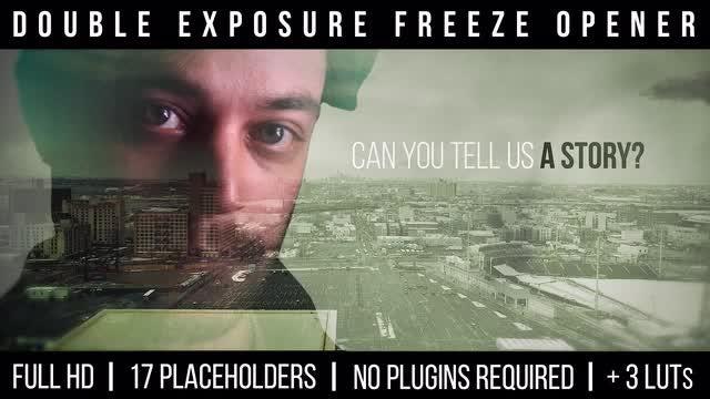 Double Exposure Freeze Opener: Premiere Pro Templates