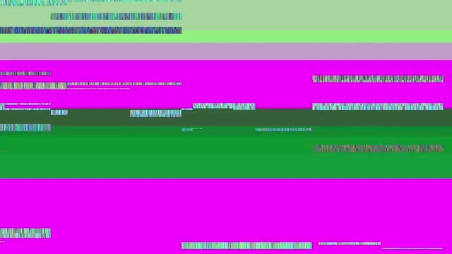 Glitch TV Screen. Purple Background: Stock Motion Graphics