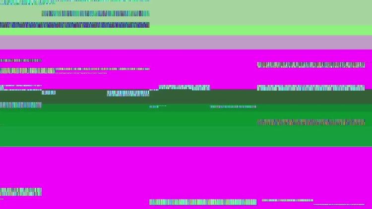 Glitch TV Screen. Purple Background: Motion Graphics